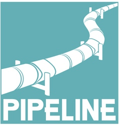 pipeline sign - pipeline design vector image vector image