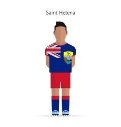 Saint Helena football player Soccer uniform vector image vector image