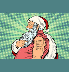 Santa claus with tattoos 2018 vector