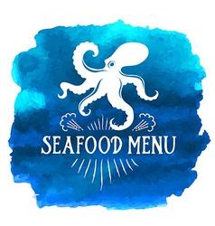 Seafood menu vector image