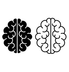 set of brain icons vector image