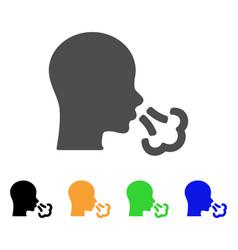 Sneeze flat icon vector