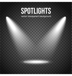 Spotlight Background Spotlight isolated vector image vector image