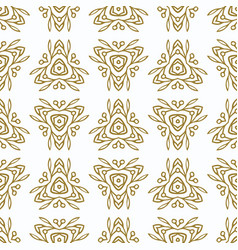 Vintage seamless pattern with gold ethnic vector