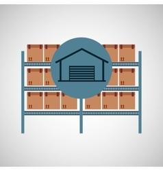 warehouse boxes concept icon vector image
