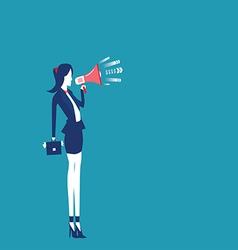 Women hands holding megaphone vector
