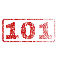 101 rubber stamp vector image vector image