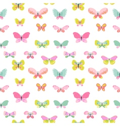 Colorful Seamless Background with Butterflies vector image