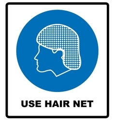 Use hair net sign vector