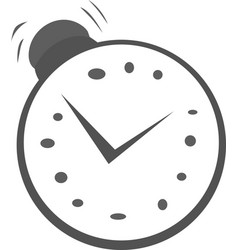 ringing alarm clock vector image