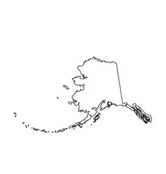 map of the us state alaska vector image