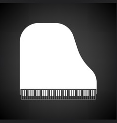 Grand piano icon vector