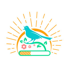 downloads singing bird vector image