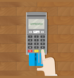 Payment by card approved vector