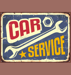 Car service vintage sign vector