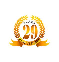 29 years ribbon anniversary vector