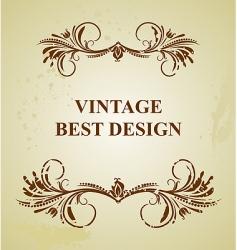 Vintage background card vector