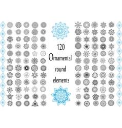 Ornament round set with mandala vector image