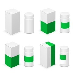 Medical bottle vector