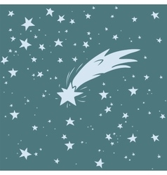 Hand-drawn shooting star vector