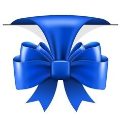 Big blue bow vector