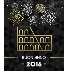 New year 2016 rome colosseum travel gold vector