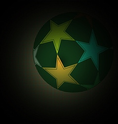 Champions league soccer ball with starts vector