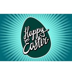 Hand lettering happy easter in vintage style vector