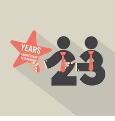 23 years anniversary typography design vector