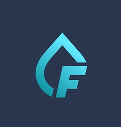 Letter f water drop logo icon design template vector