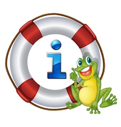 Frog information kioski sign vector