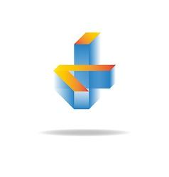Abstract business logo unusual geometric figure vector