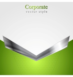 Abstract corporate background with metallic arrow vector
