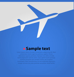 Airplane flight blue background vector
