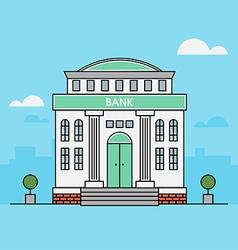 Bank finance building vector