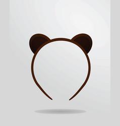 Bear mask vector