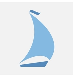 boating logo sailing vector image