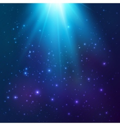 Bright blue cosmic light background vector image vector image