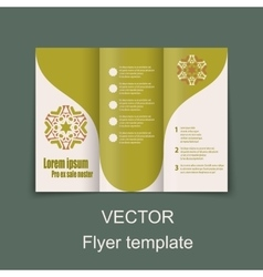Brochures design for social infographic diagram vector image vector image