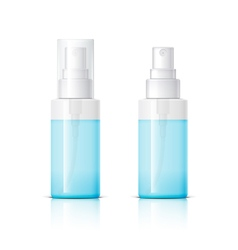 Cosmetic glass bottle can sprayer container vector