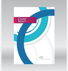 Cover Report Annual vector image vector image