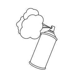 Figure aerosol sprays with cloud icon vector
