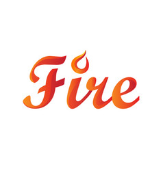 fire word in gradient vector image vector image