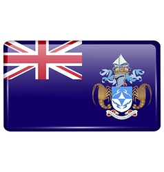 Flags tristan da cunha in the form of a magnet on vector