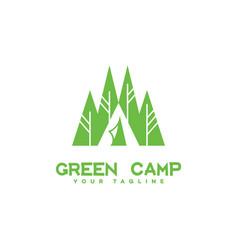 green camp logo vector image vector image