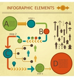green red infographics elemetns collection vector image
