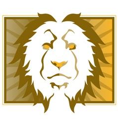 lion head art vector image vector image