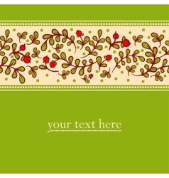 Lovely autumn background with cranberries vector image vector image