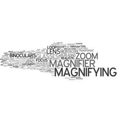 Magnifier word cloud concept vector