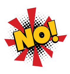 no comic word vector image vector image